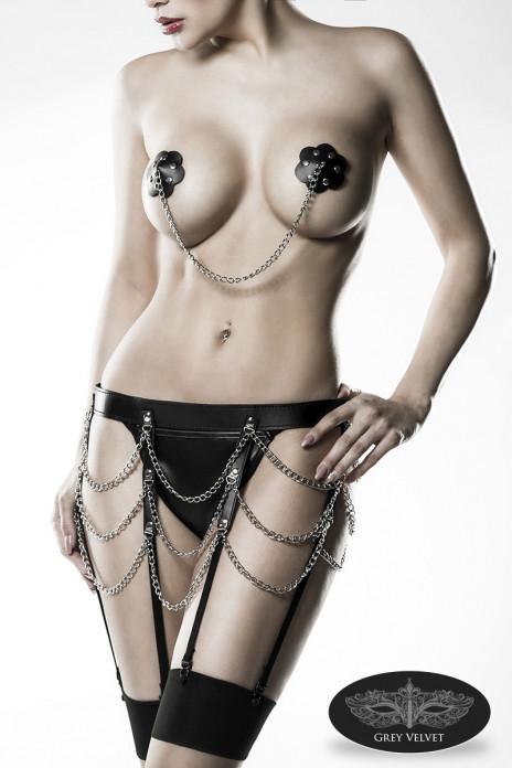 Chain Panties & Garter Set