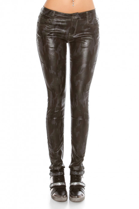 Camouflage Leatherlook Pants