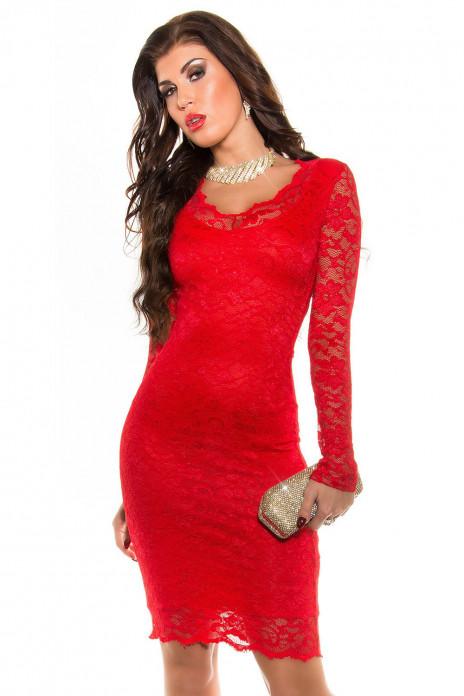 Party Dress V-Cut Lace