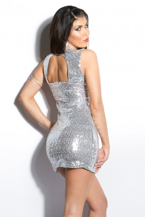 Sequin Party Minidress Silver