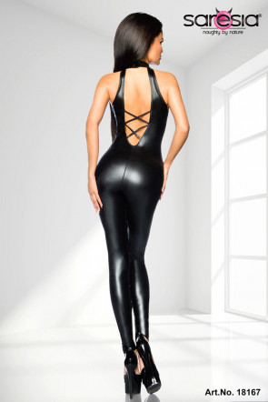 Wetlook Ribbon Catsuit