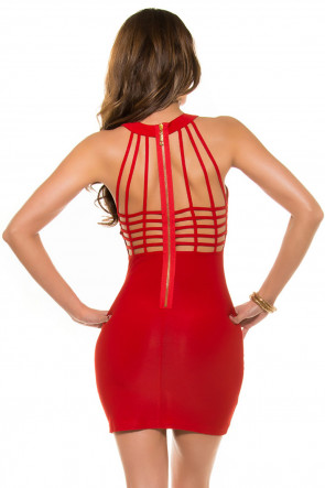 Red Strappy Minidress