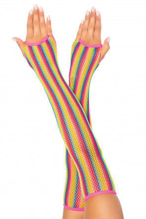 Rainbow Net Arm Warmers