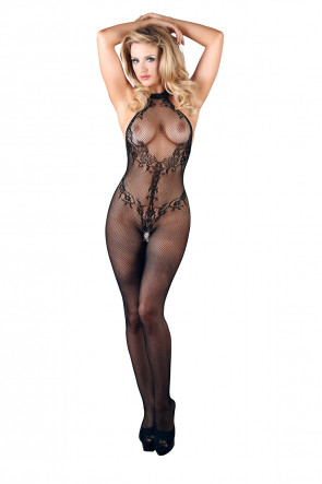 Lace Halterneck Bodystocking