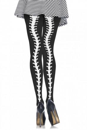 Leg Avenue Spine backseam pantyhose black, white