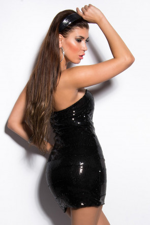 Black Sequin Minidress