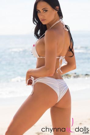 Hermosa Double String Bikini Solid White
