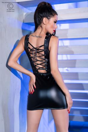 Pretty Leatherette Minidress