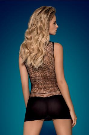 Black Fishnet Mini Dress - D603