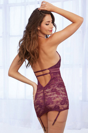 Red Diamond Lace Chemise