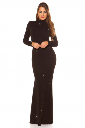 Black/Gold Red Carpet Look Evening Gown