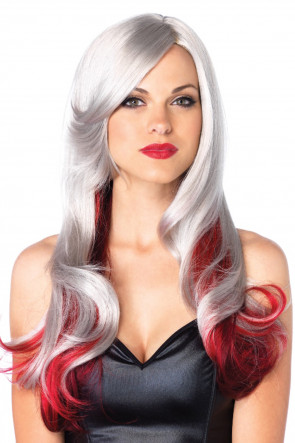 Allure Multi Color Wig Grey & Red