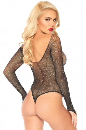 Fishnet Thong Bodysuit