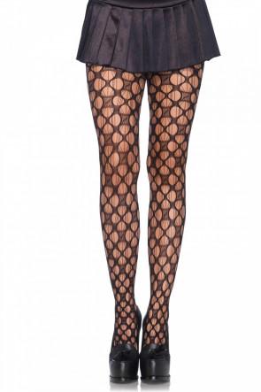 Lucky You Clover Net Pantyhose