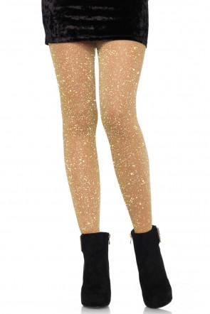 Lurex pantyhose gold