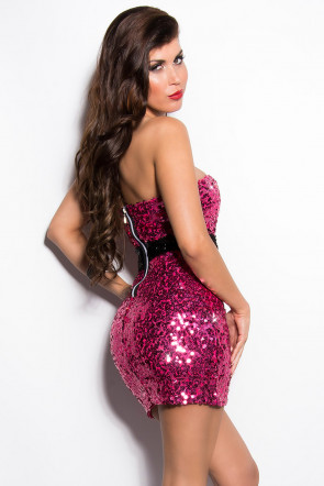 Fuchsia Sequin Minidress