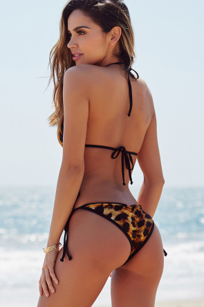 Laguna Velvet Leopard & Black Single Rise Scrunch