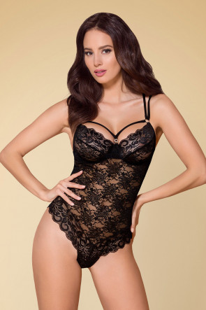Tempting Lace Teddy Black