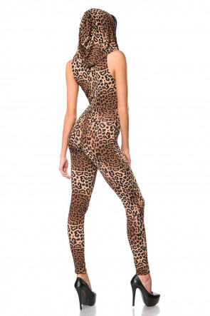 Wetlook Leopard Hooded Catsuit