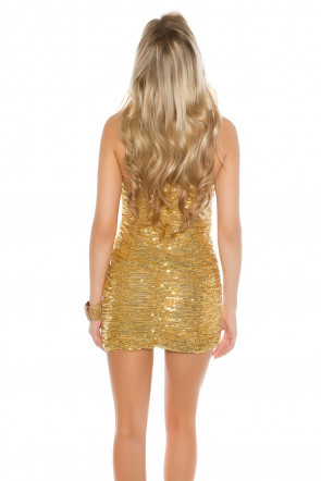sequined Bandeau-Minidress